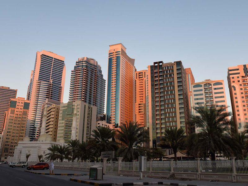 Stock Sharjah Skyline, Al Majaz