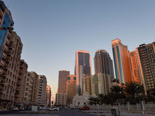Stock Sharjah Skyline, Al Majaz