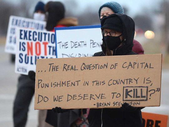 Anti-capital punishment execution US protest