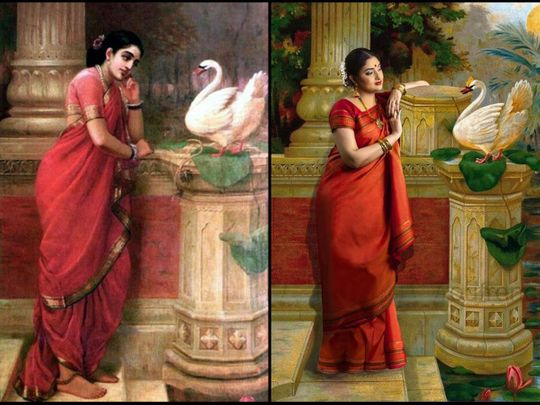 Watch: Indian expats in UAE recreate 19th century paintings of Kerala's famous artist Raja Ravi Varma for photo calendar