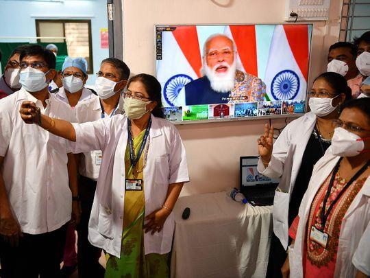 Doctors from the Rajawadi Hospital