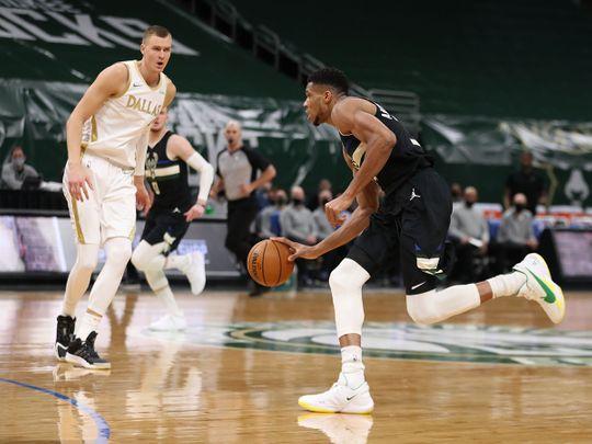 Giannis Antetokounmpo led Milwaukee Bucks to the win over Dallas Mavericks