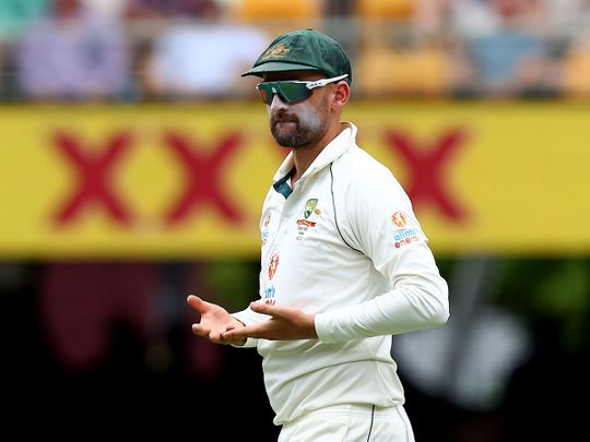 Nathan Lyon struck in his 100th Test for Australia