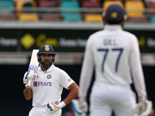 Rohit Sharma lost his wicket to Nathan Lyon in the fourth Test against Australia