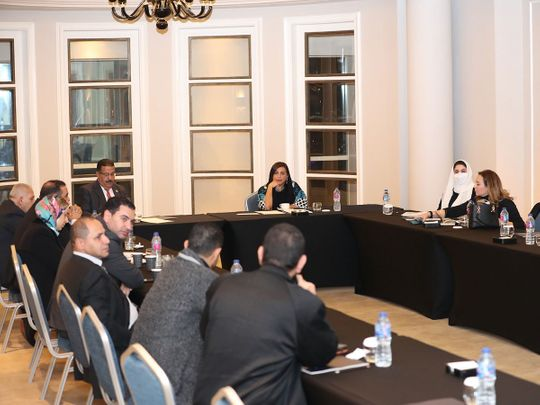 Sheikha Bodour Al Qasimi, IPA President during the meeting
