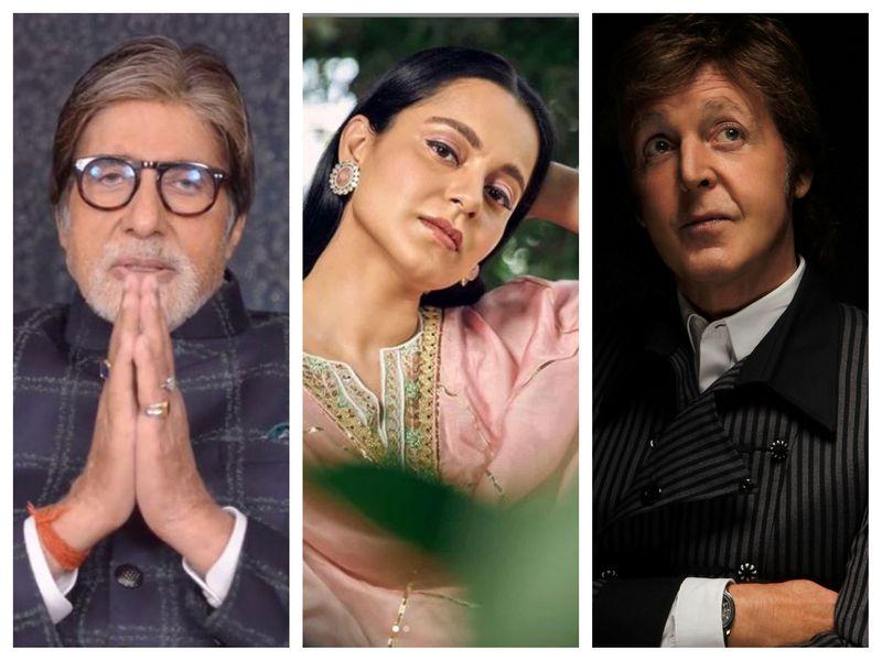 Amitabh Bachchan, Kangana Ranaut, Paul McCartney