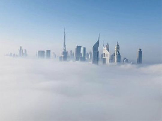Dubai media office fog pics