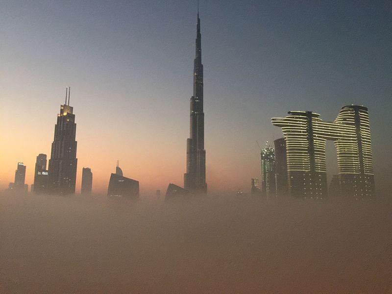 Fog in Downtown Dubai