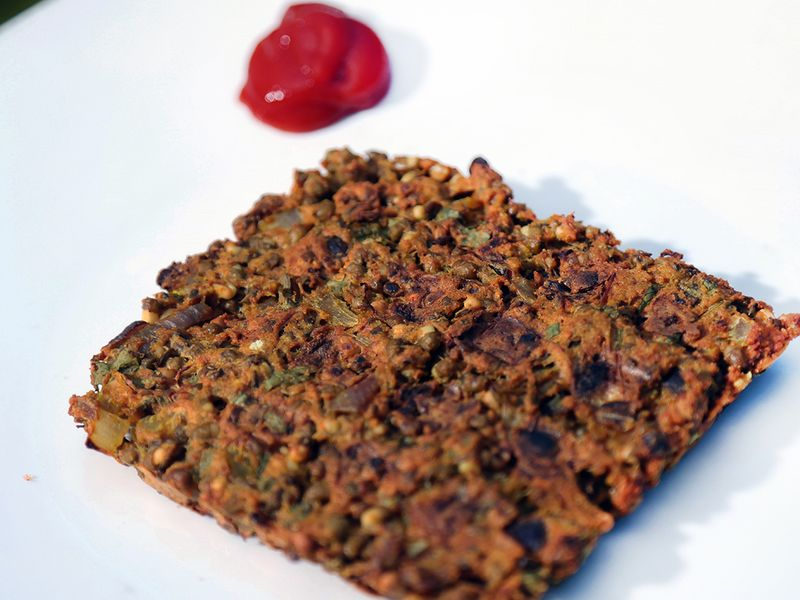 Sprouted moong waffles