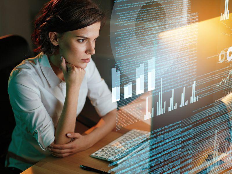 Stock future workplace AI meeting
