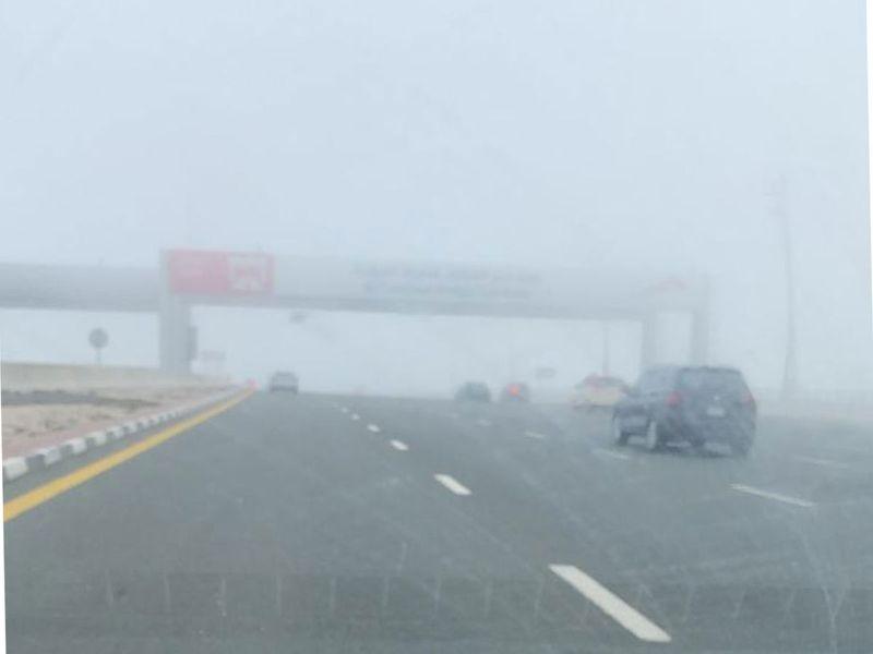 Visibility poor on Dubai roads