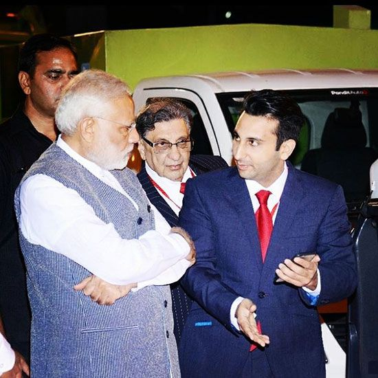 Adar Poonawala with PM Modi