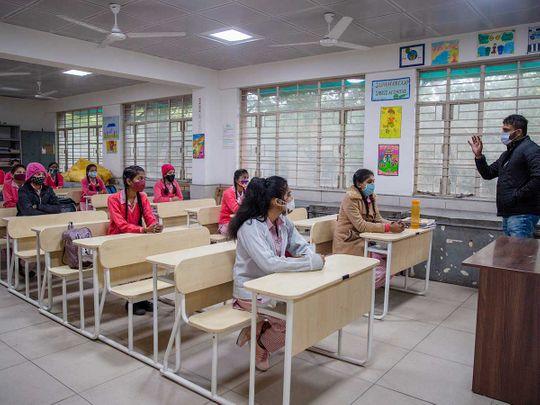 Delhi school students covid