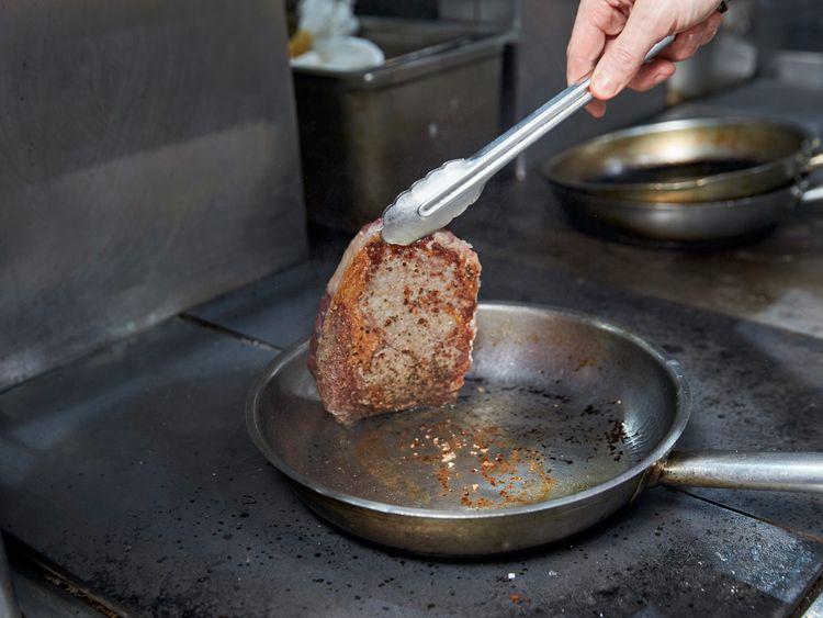 During cooking - pan