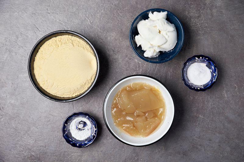 Masa dough ingredients