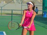 Darja Semenistaja of Latvia lost to fifth-seeded Kurumi Nara of Japan in Fujairah.