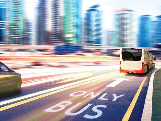 Dedicated bus lanes in Dubai