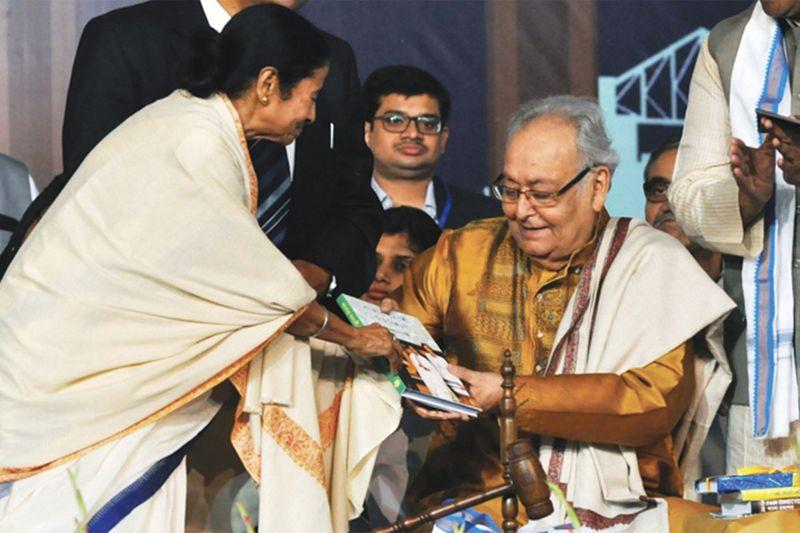 Mamata Banerjee and Saumitra Chatterjee