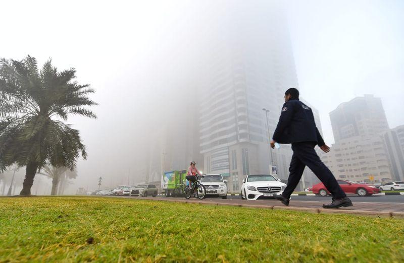 Monster fog in Sharjah