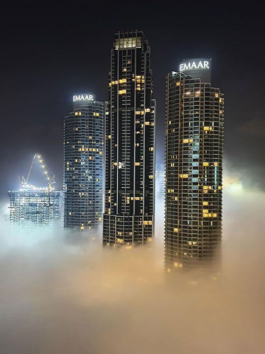Sheikh Hamdan's aerial Dubai fog photos are out of this world