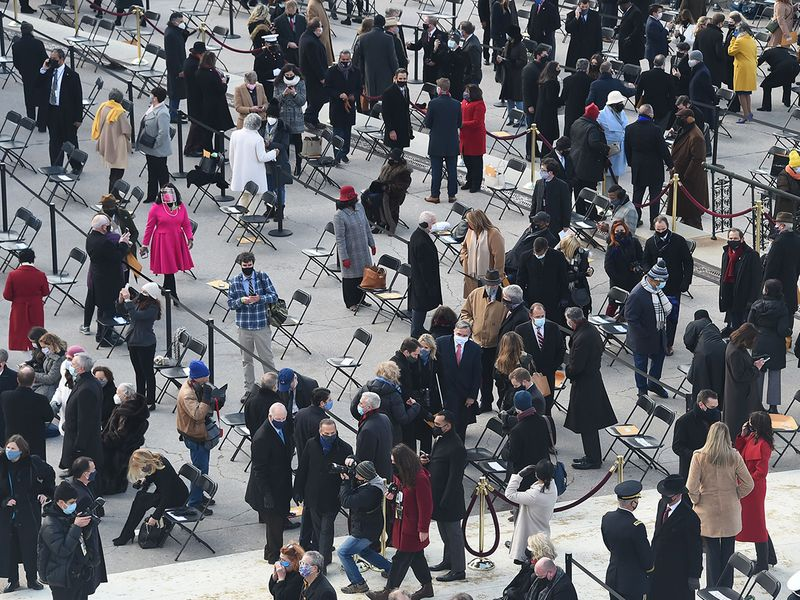 Guests arrive for the inauguration of Joe Biden as the 46th US President, at the US Capitol in Washington, DC.