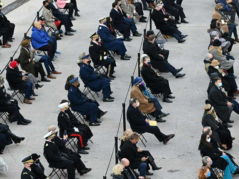 Guests inauguration Capitol Biden