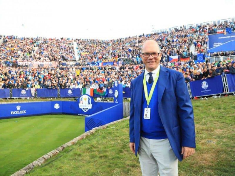 Guy Kinnings at the scene of Ryder Cup victory for Team Europe in Paris