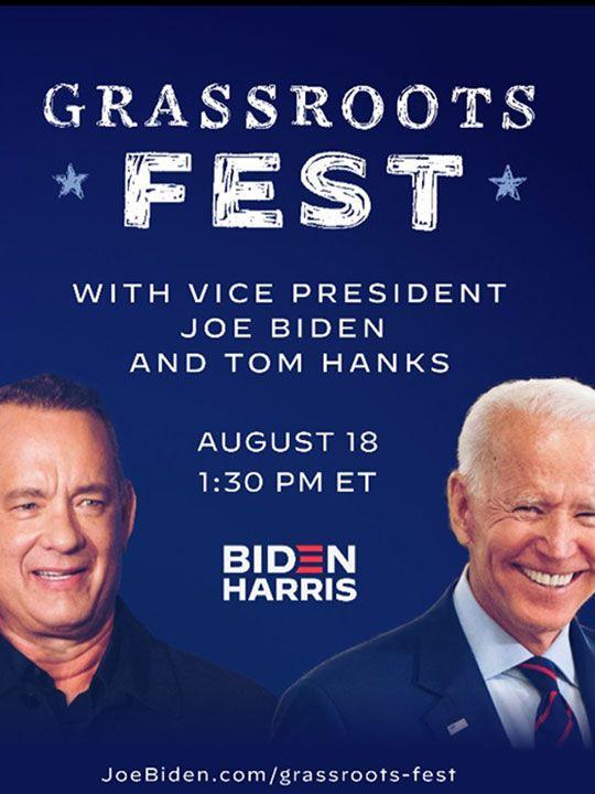 Joe Biden and Tom Hanks