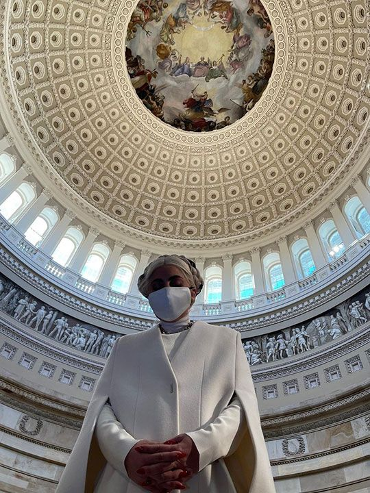 Lady Gaga posted on her instagram from the Capitol: ''I pray tomorrow will be a day of peace for all Americans. A day for love, not hatred. A day for acceptance not fear. A day for dreaming of our future joy as a country. A dream that is non-violent, a dream that provides safety for our souls. Love, from the Capitol''.