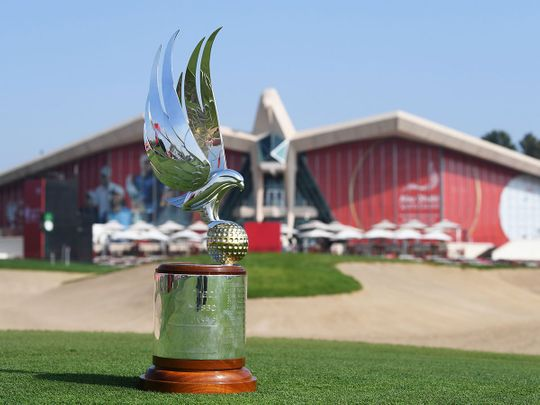 The Abu Dhabi HSBC Championship Falcon trophy is what they are all chasing this week