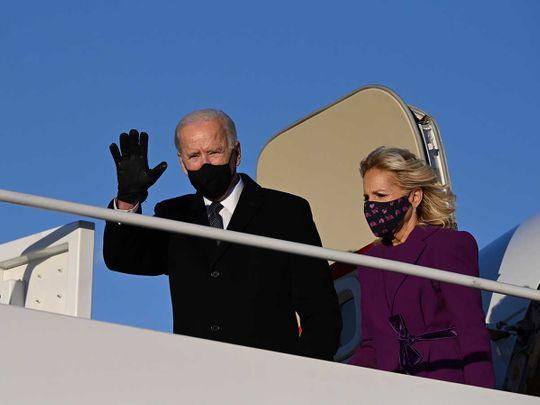 US President-elect Joe Biden and incoming First Lady Jill Biden
