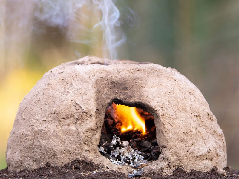 A tannur (mud oven)