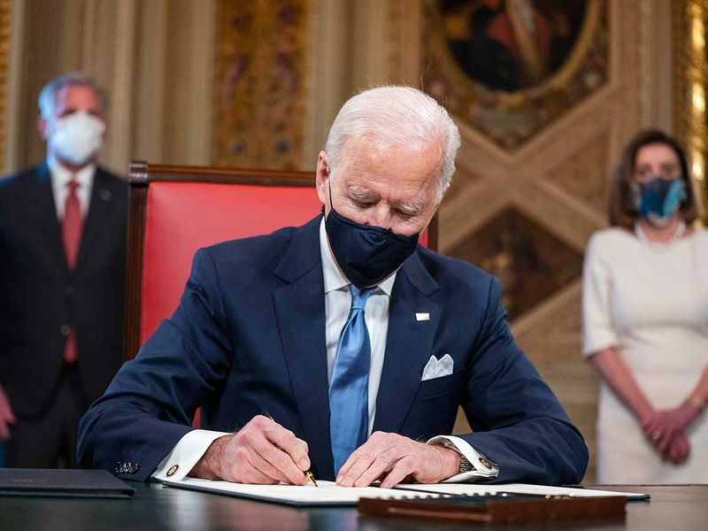 Joe Biden signs inauguration declaration