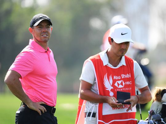 Rory McIlroy hit a best-ever 64 at the Abu Dhabi HSBC Championship