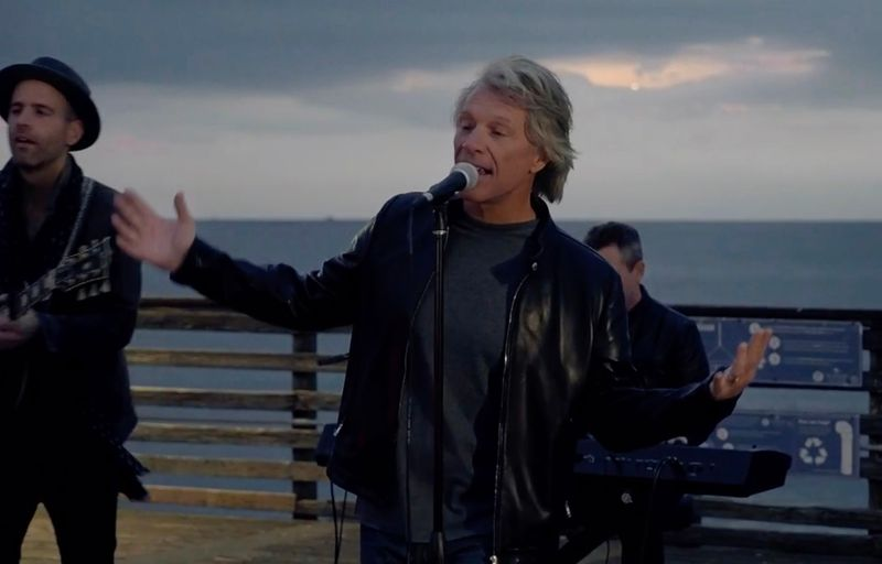 This screen grab courtesy of bideninaugural.org shows singer Jon Bon Jovi performing during the