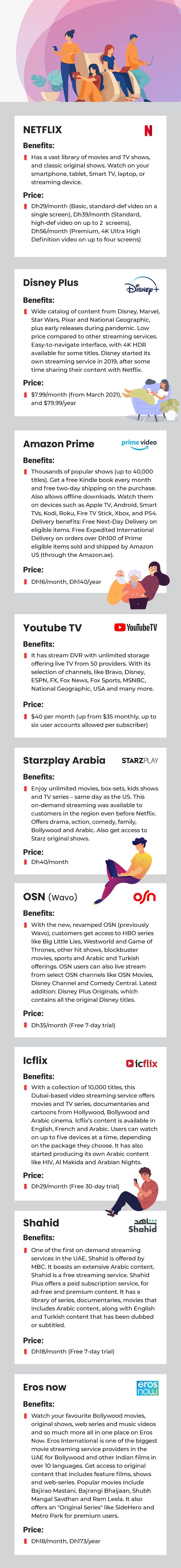 video streaming services comparison