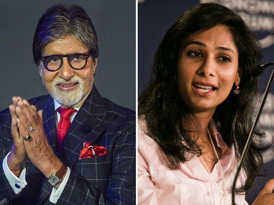 Amitabh Bachchan and Gita Gopinath