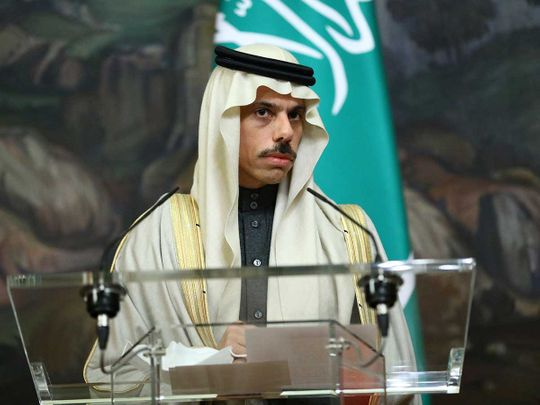 Saudi Arabia's Foreign Minister Faisal Bin Farhan