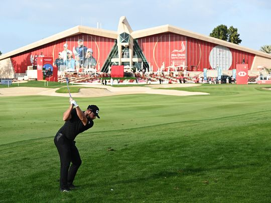Tyrrell Hatton has cut loose from the field at the Abu Dhabi HSBC Championship