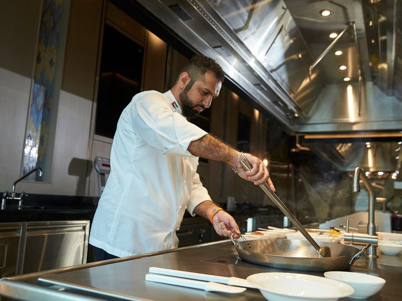 """Al Matrooshi aims to continue reinventing dishes, techniques of cooking, and presentation. """"Arabic food with a Western twist."""
