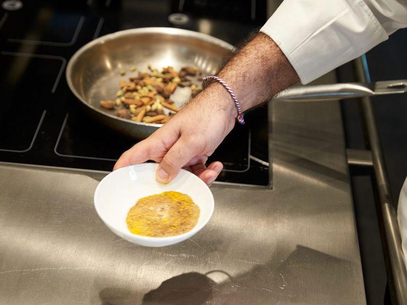 Chef Al Matrooshi lists the spice mix bzar as a key element of Emirati food