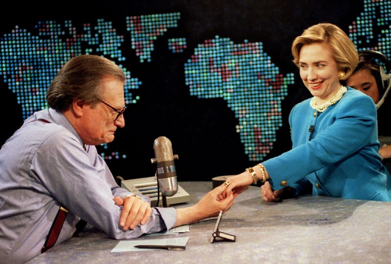 Larry King with Hillary Clinton
