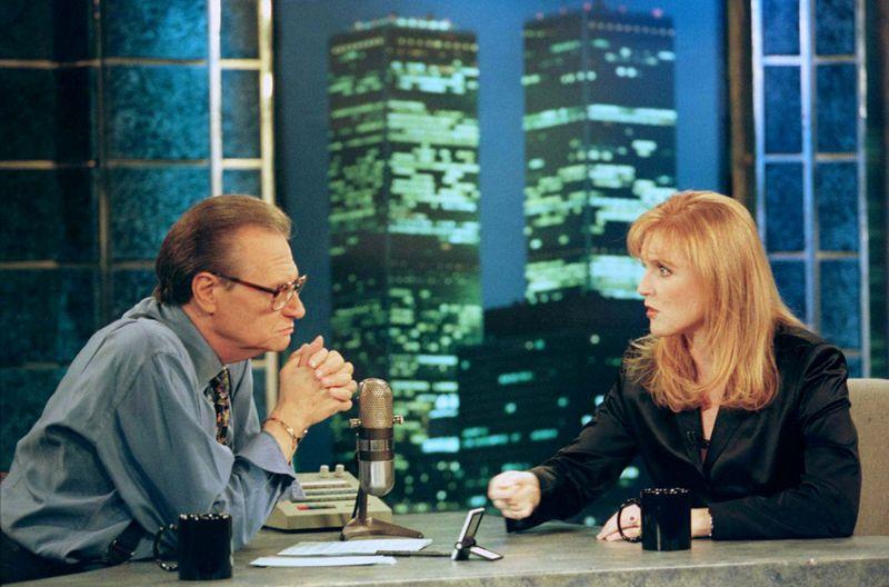 Larry King with Sarah, Duchess of York