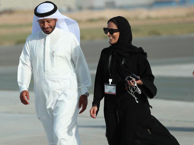Nada-Al-Shamsi-with--Major-General-Saif-Ziri-Al-Shamsi,-commander-in-chief-of-Sharjah-Police