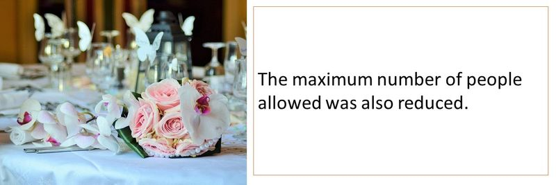 The maximum number of people allowed was also reduced.