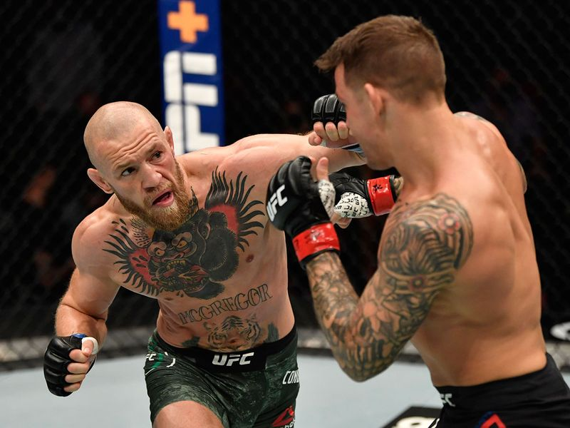 Dustin Poirier defeated Conor McGregor at UFC 257 on Yas Island in Abu Dhabi