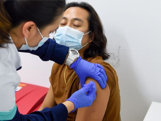 Inside one of the UAE's largest COVID-19 vaccination centres