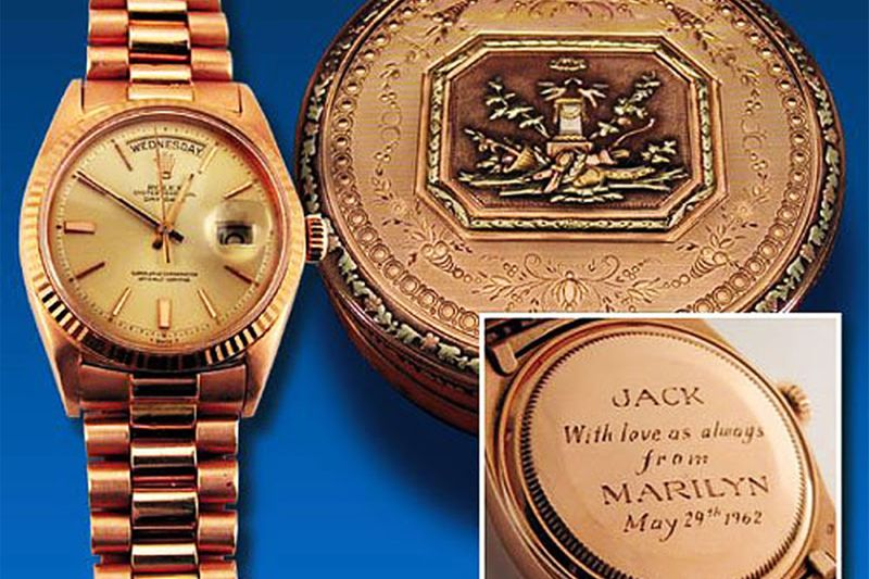 John F. Kennedy, watch by Monroe