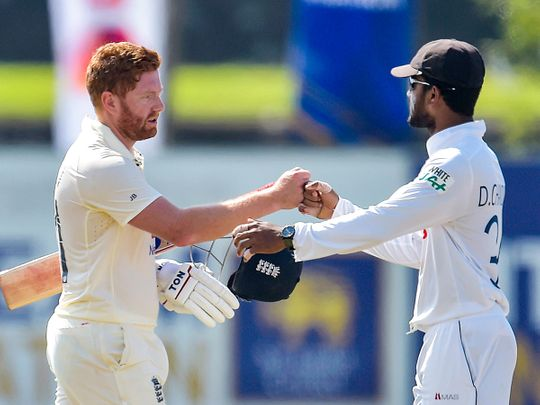 England defeated Sri Lanka by six wickets in the second Test