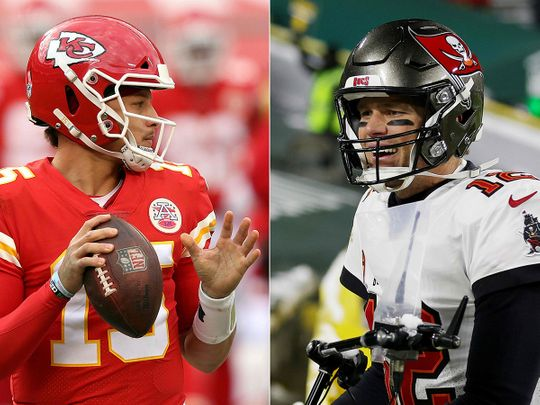 Patrick Mahomes and Tom Brady will do battle at Super Bowl 55 in Tampa Bay